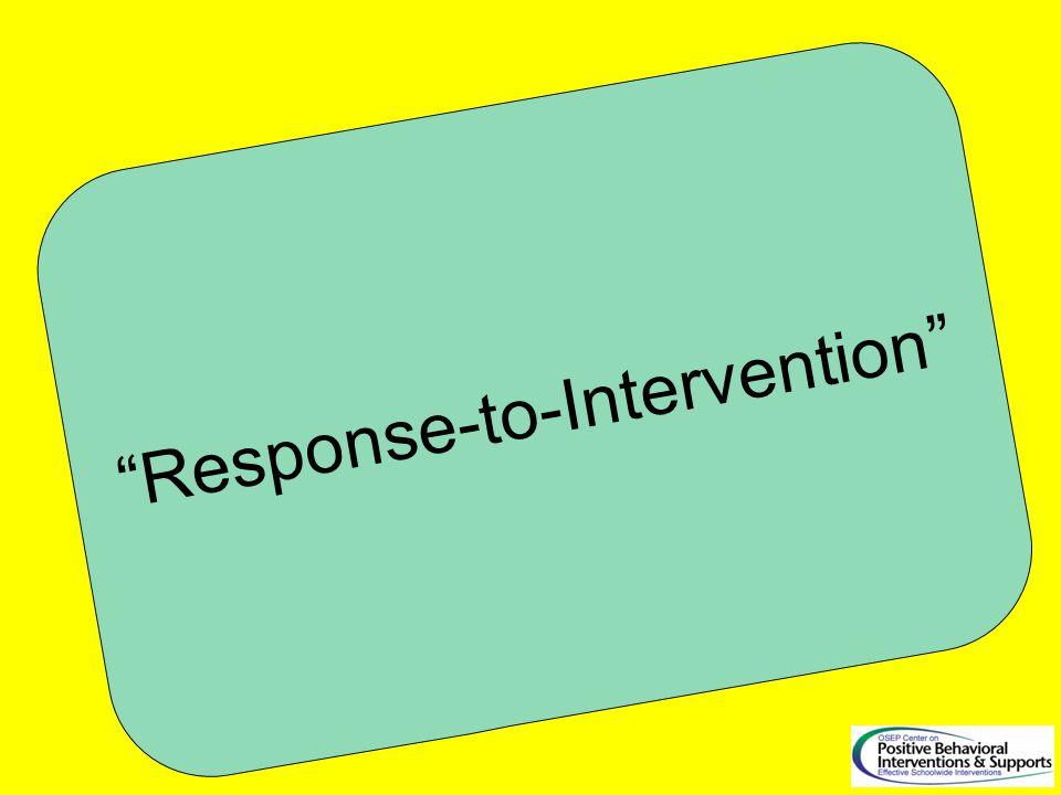 Response-to-Intervention