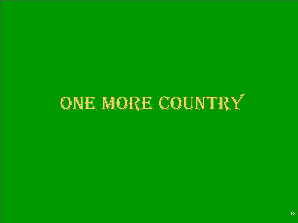 18 One More Country