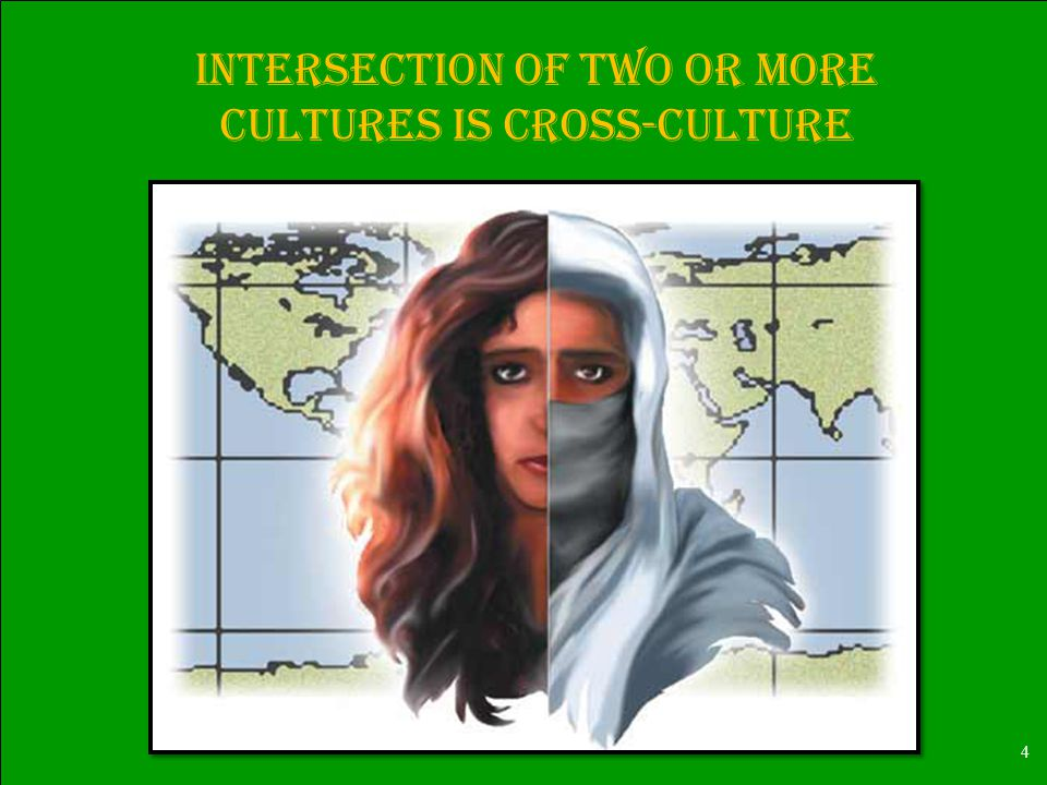 4 Intersection of two or more cultures is Cross-culture