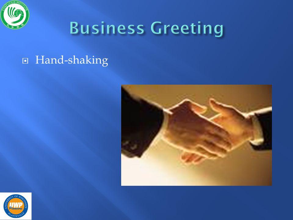Hand-shaking