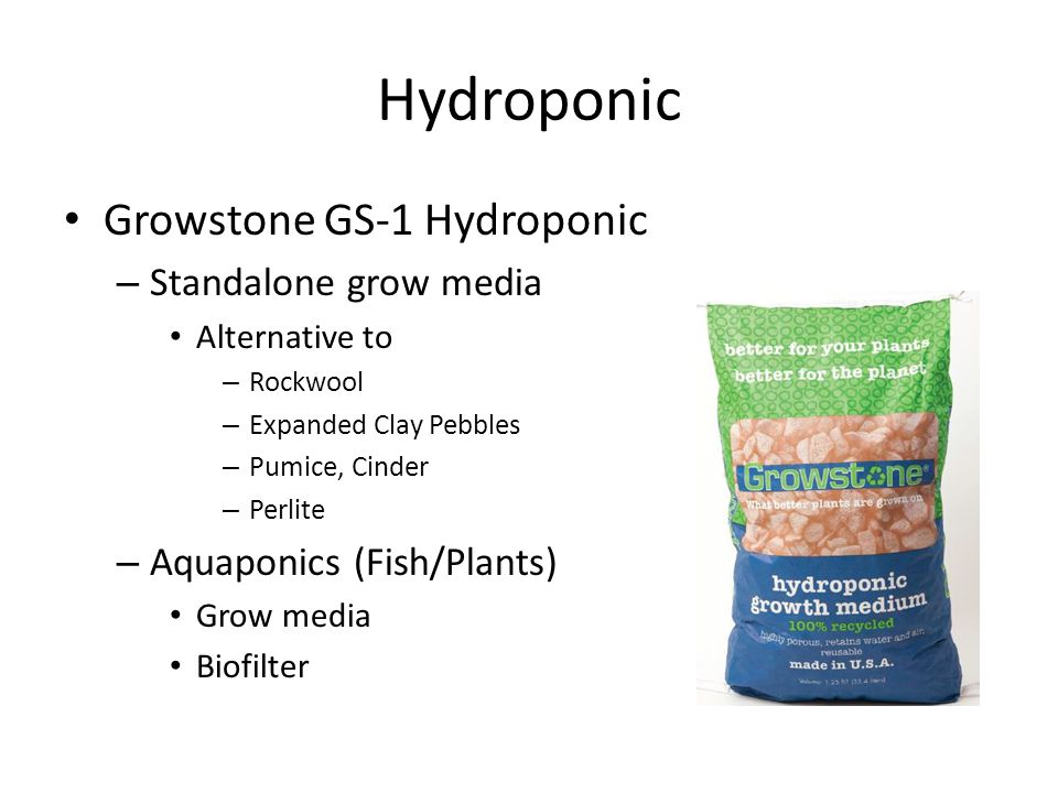Hydroponic Growstone GS-1 Hydroponic – Standalone grow media Alternative to – Rockwool – Expanded Clay Pebbles – Pumice, Cinder – Perlite – Aquaponics (Fish/Plants) Grow media Biofilter