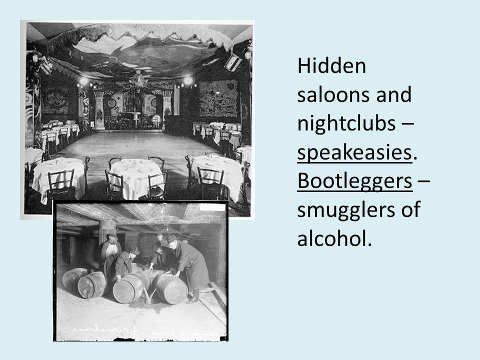 Organized Crime Al Capone – Chicago - 6 years of gang warfare – bootlegging - $60 million/year.