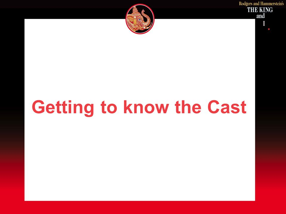 Getting to know the Cast