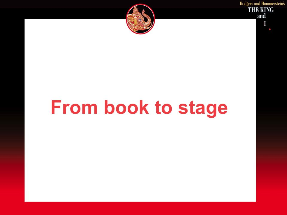 From book to stage