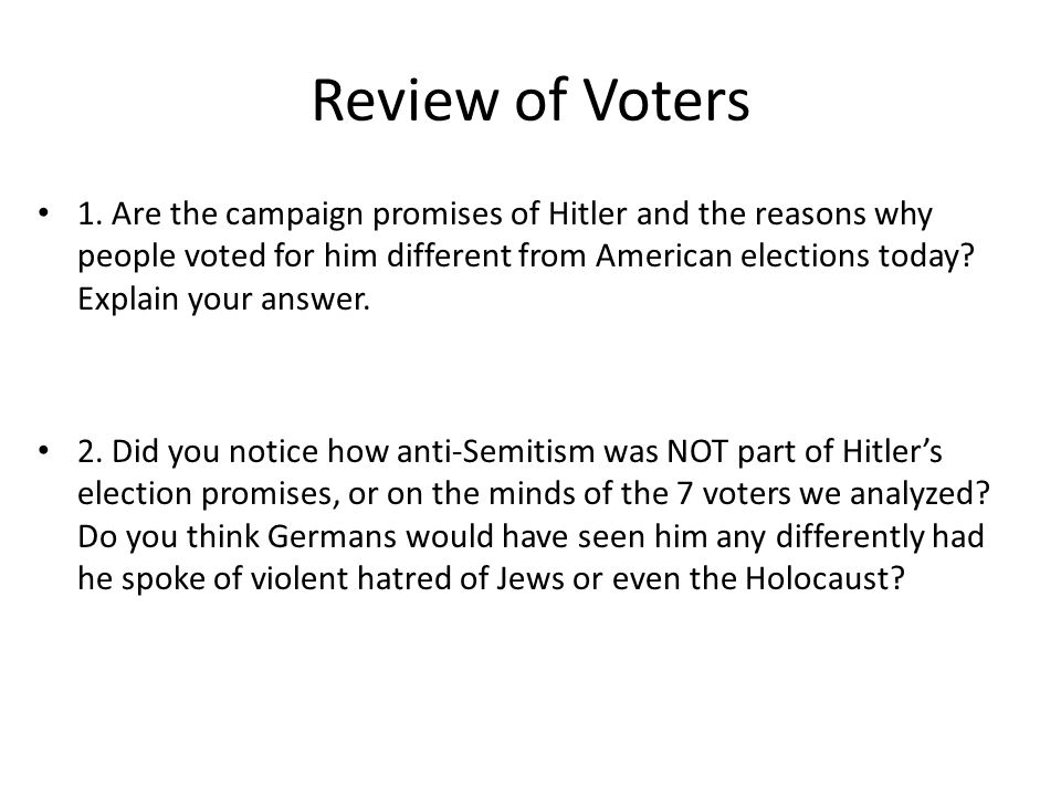 Review of Voters 1.