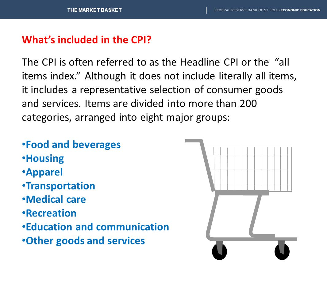 The CPI inflation rate can be determined comparing the percentage increase in the price level of goods and services from one time period to another. I