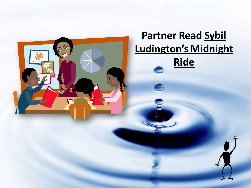 Partner Read Sybil Ludingtons Midnight Ride