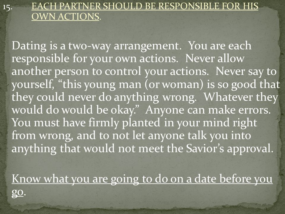 16.DISCUSS DATING RULES WITH PARTNERS.