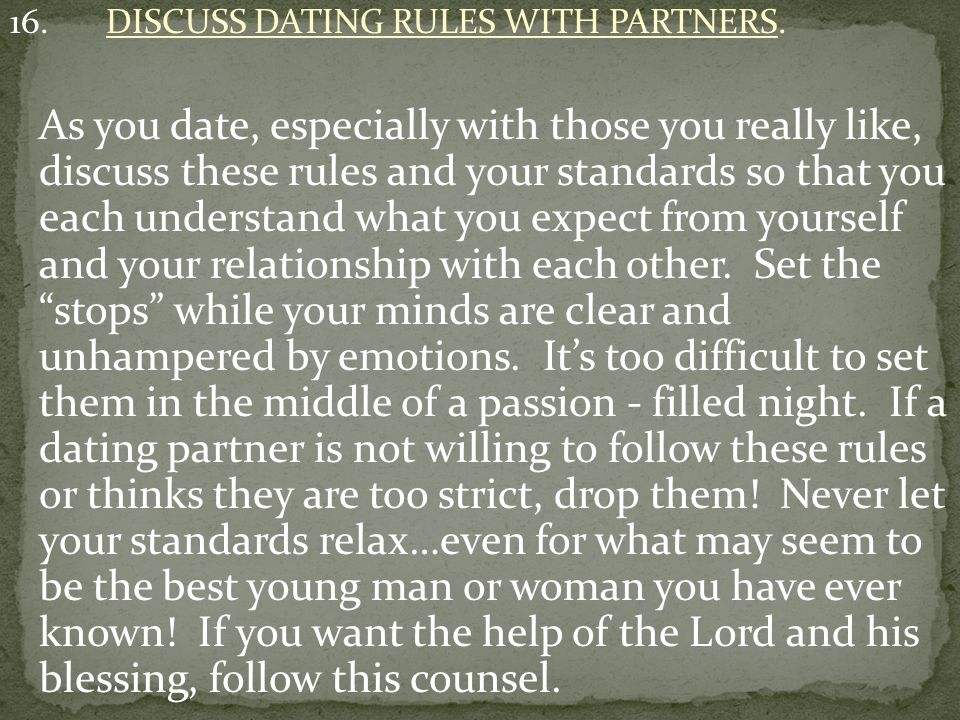 17.DO NOT THINK THAT YOU ARE THE EXCEPTION TO THESE RULES.