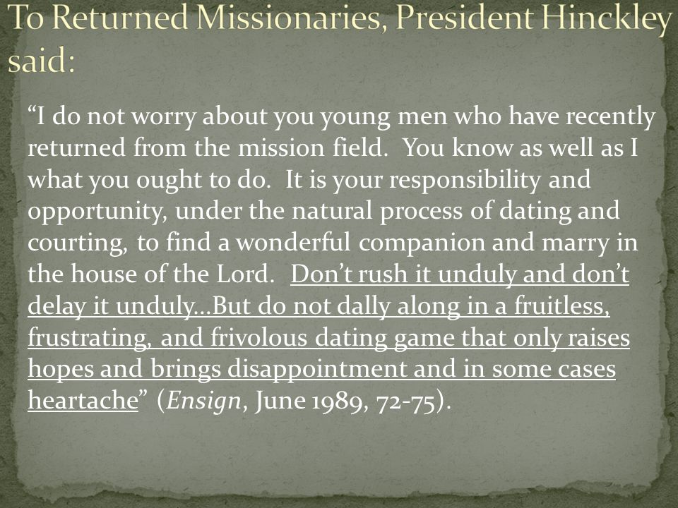 To the young women of the Church, President Benson said, You can have a positive influence in motivating young men to serve full-time missions.