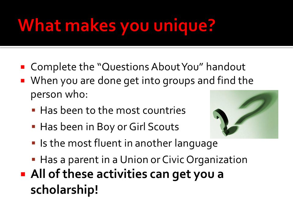 Scholarships : financial aid awards for your accomplishments.
