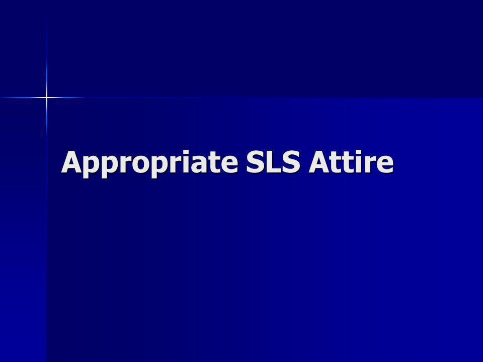 Appropriate SLS Attire