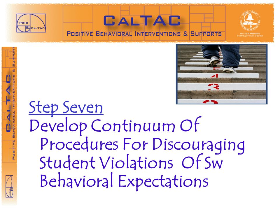 STEP 3 Step Seven Develop Continuum Of Procedures For Discouraging Student Violations Of Sw Behavioral Expectations