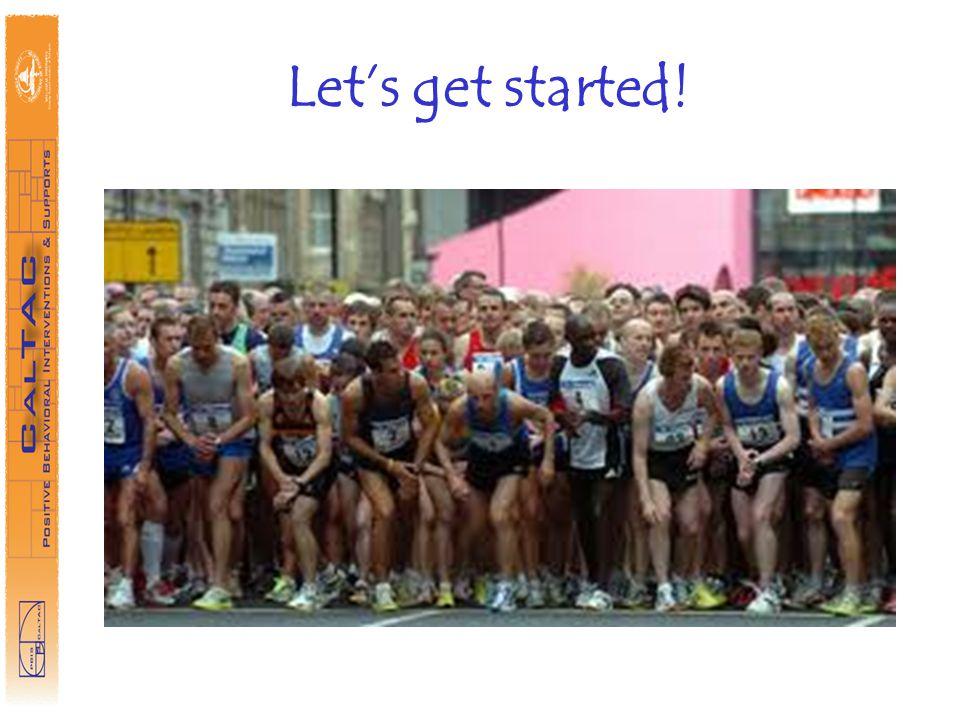 Lets get started!