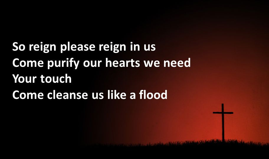 So reign please reign in us Come purify our hearts we need Your touch Come cleanse us like a flood