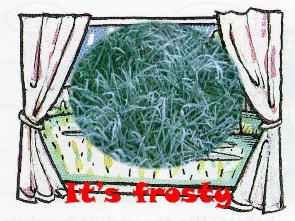 Its frosty