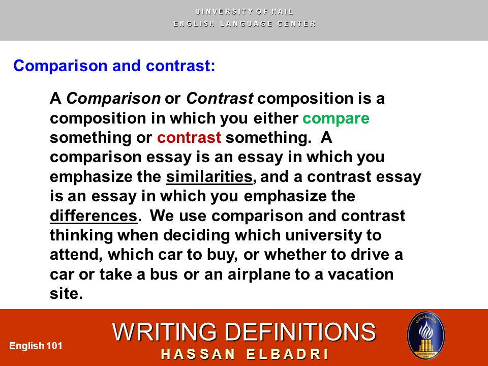 compare and contrast essay about cars