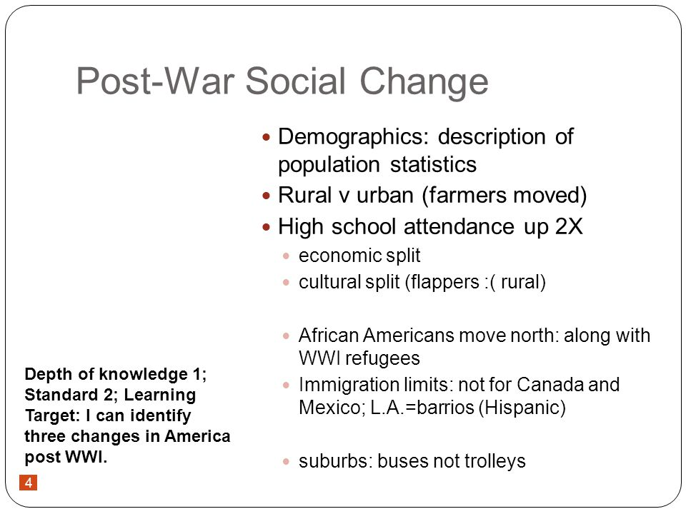 5 Post-War Social Change HEROES: changes make Americans look for traditional values in heroes.