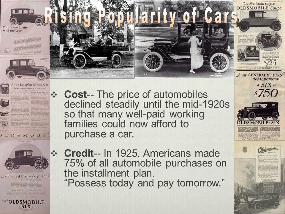 Advertisements Widespread; encouraged consumerism
