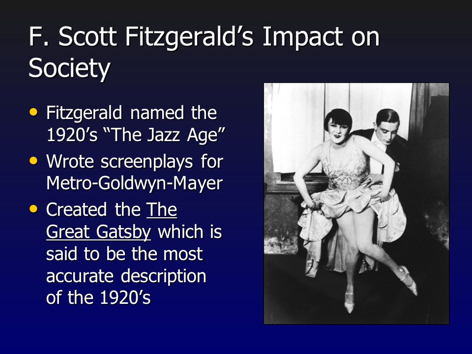 Facts on F. Scott Fitzgerald F. Scott Fitzgerald's full name was Francis Scott Key Fitzgerald. He was named after his second cousin three times remove