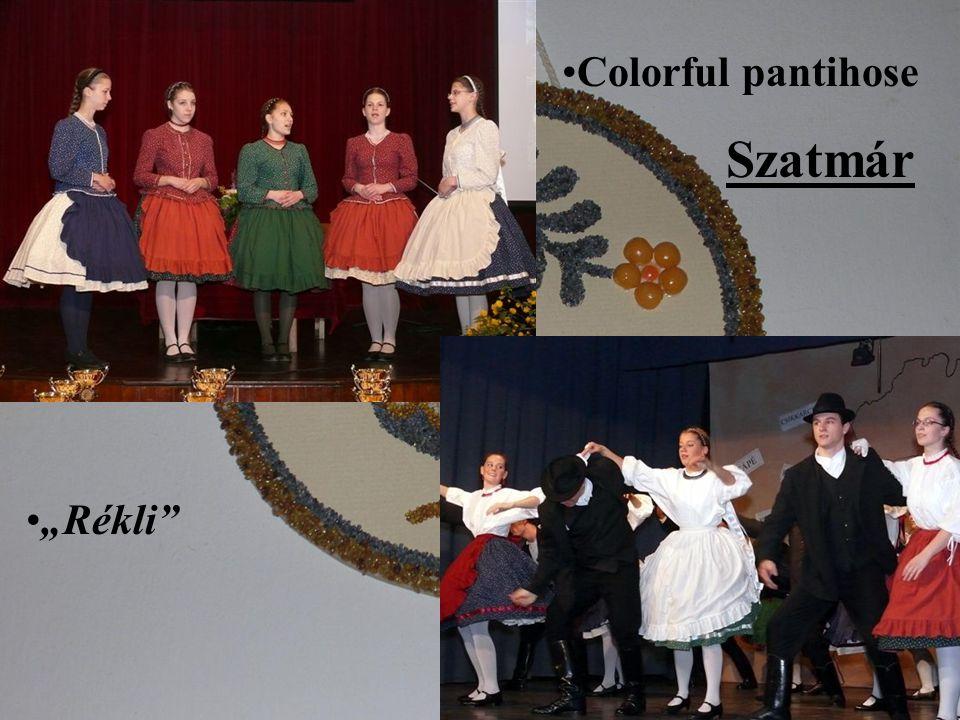 Colorful pantihose Rékli Szatmár