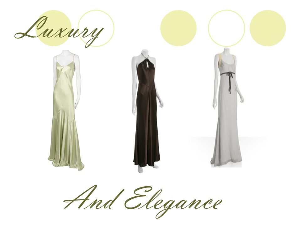 Choose the right dresses… For the right occasion.