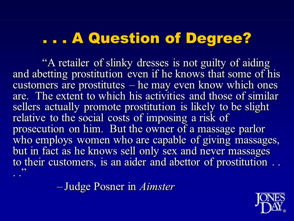 ... A Question of Degree.