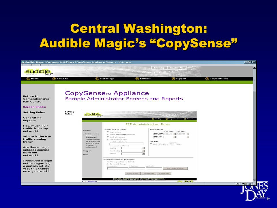Central Washington: Audible Magics CopySense