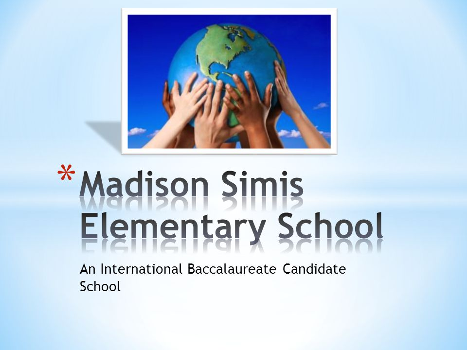 An International Baccalaureate Candidate School