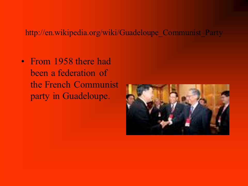 http://www.phrasebase.com/countries/gu adeloupe/ The president of Guadeloupe is Jacques Chirac of France