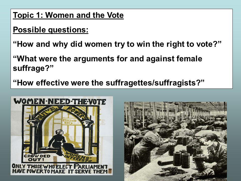 Did WW1 help women to achieve the vote?