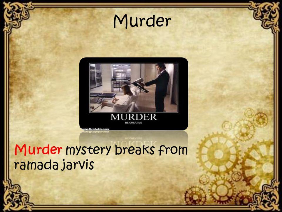 Murder Murder mystery breaks from ramada jarvis