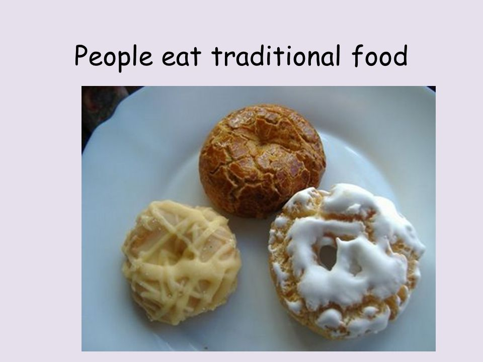 People eat traditional food