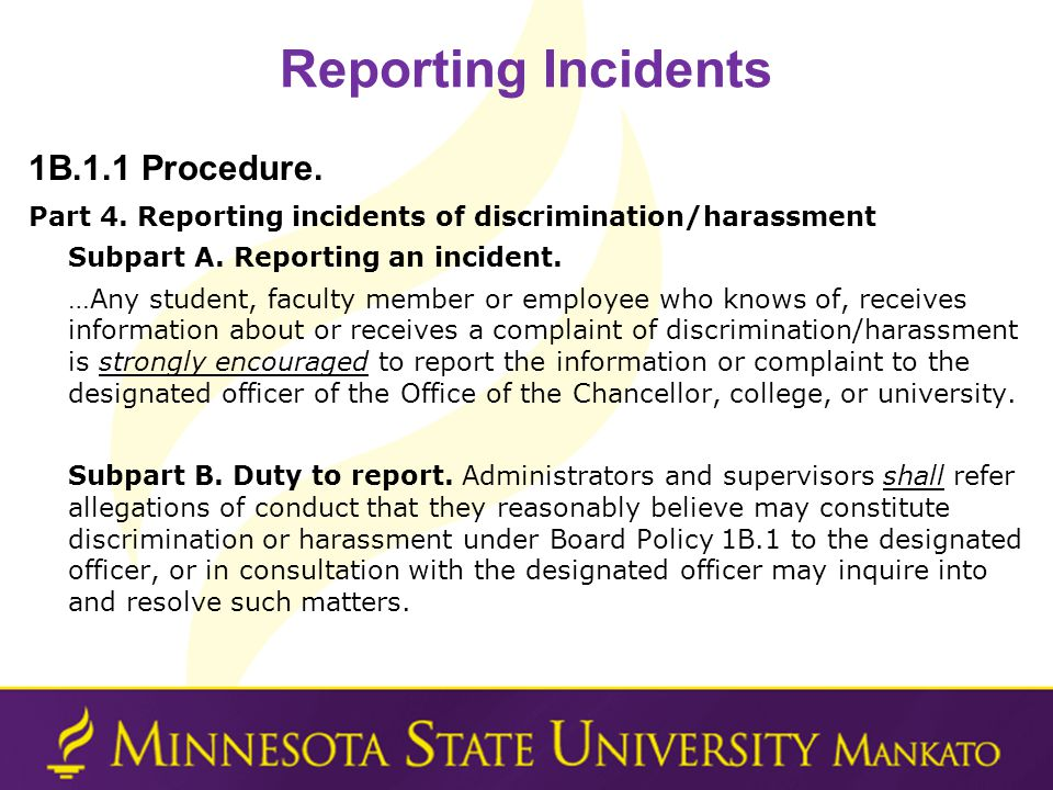 Reporting Incidents 1B.1.1 Procedure.Part 4.