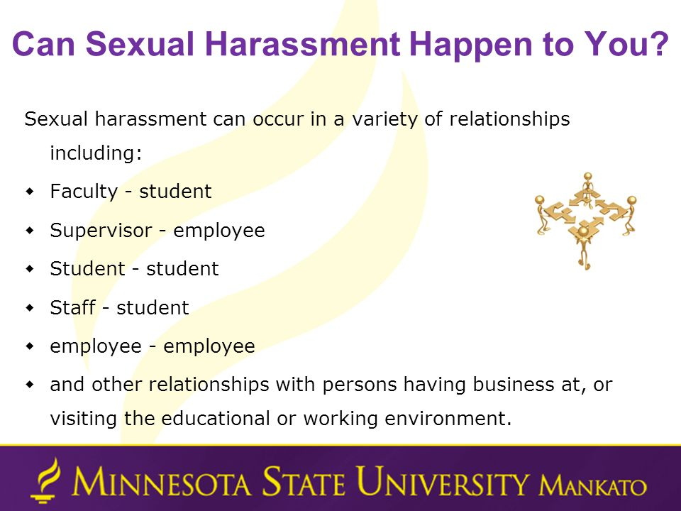 Can Sexual Harassment Happen to You.