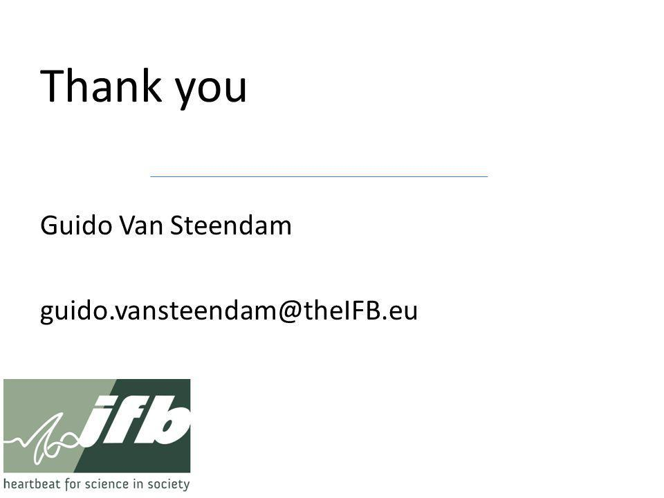Thank you Guido Van Steendam guido.vansteendam@theIFB.eu