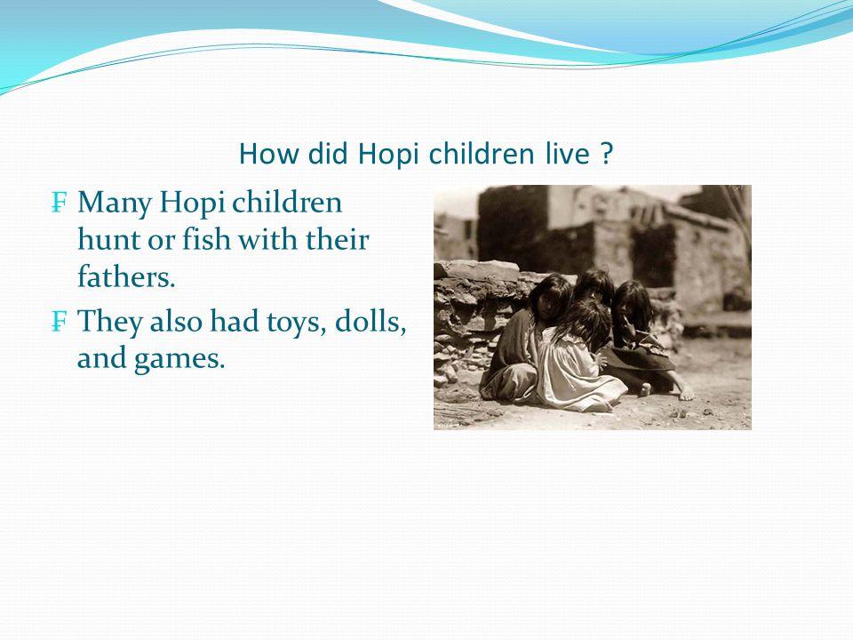 The Hopi lived... In northwestern Arizona