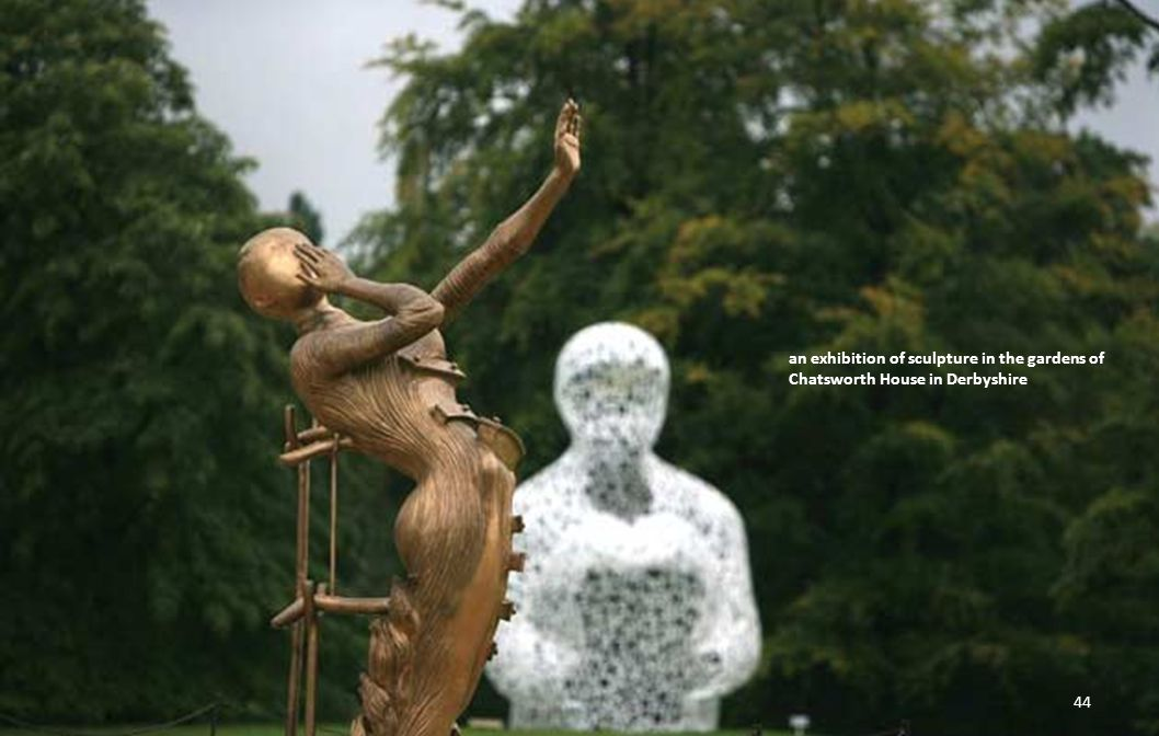an exhibition of sculpture in the gardens of Chatsworth House in Derbyshire 43
