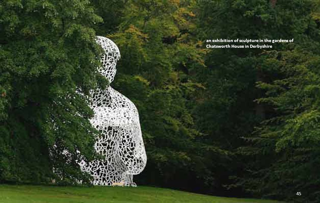 an exhibition of sculpture in the gardens of Chatsworth House in Derbyshire 44