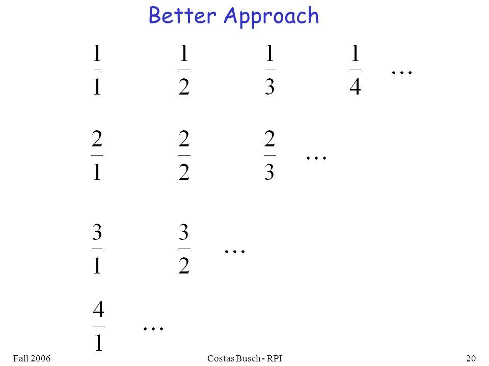 Fall 2006Costas Busch - RPI20 Better Approach