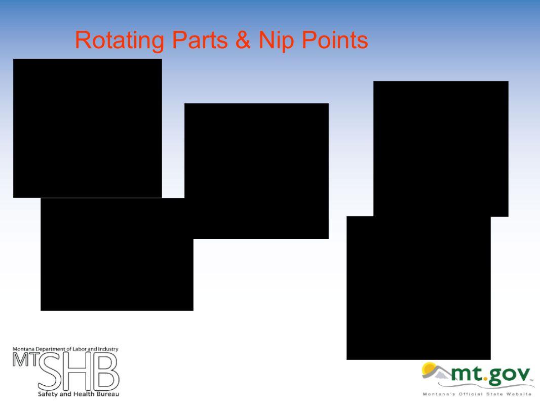 Rotating Parts & Nip Points