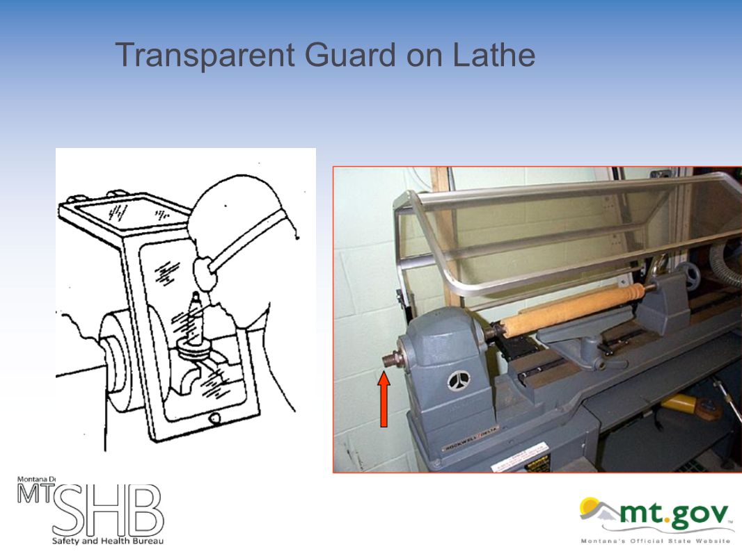 Transparent Guard on Lathe