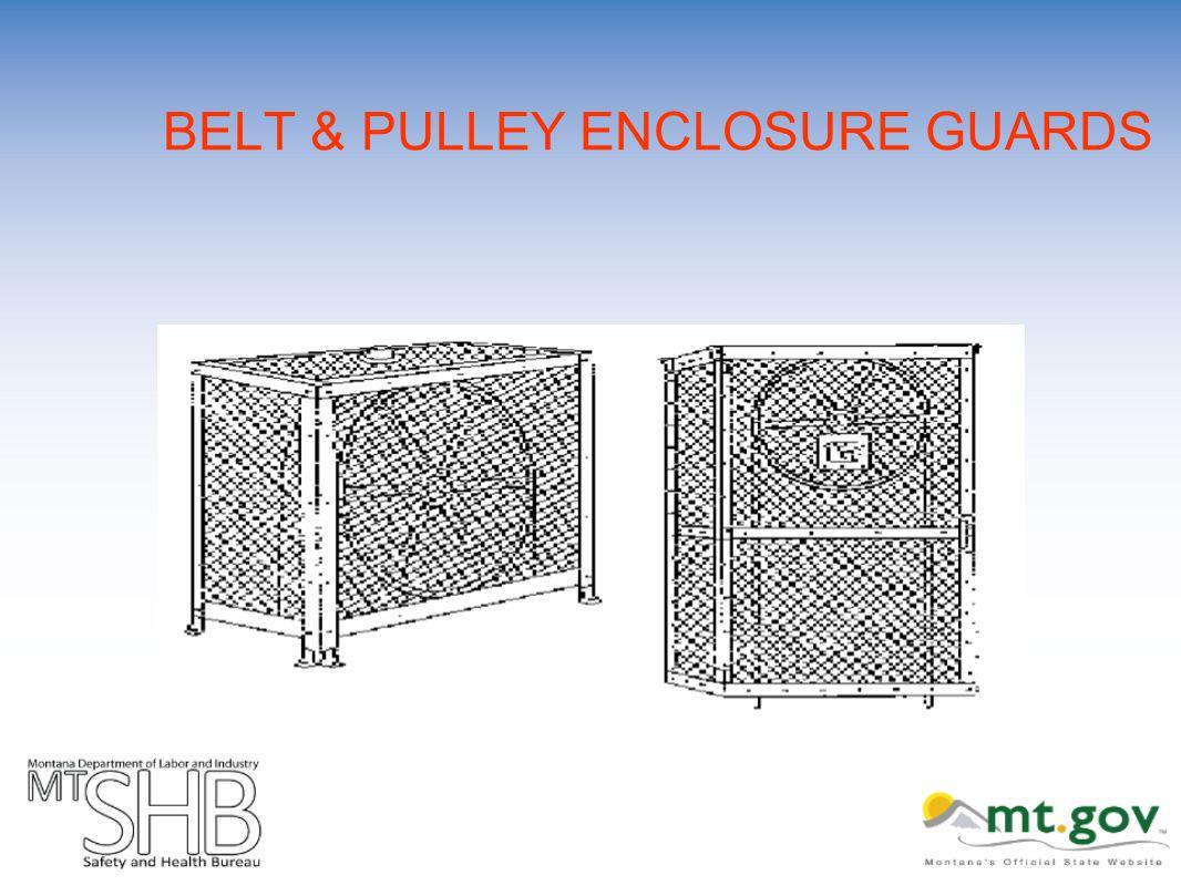 BELT & PULLEY ENCLOSURE GUARDS