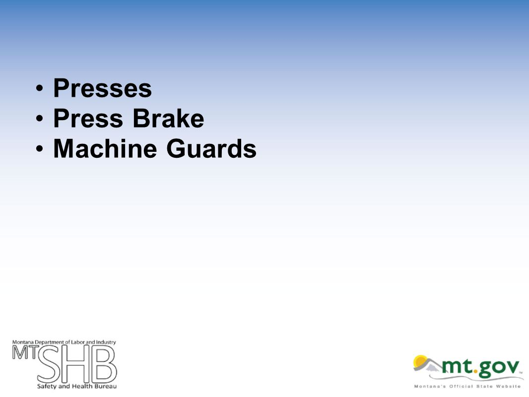 Presses Press Brake Machine Guards