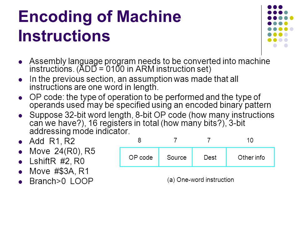 Assembly language program needs to be converted into machine instructions.