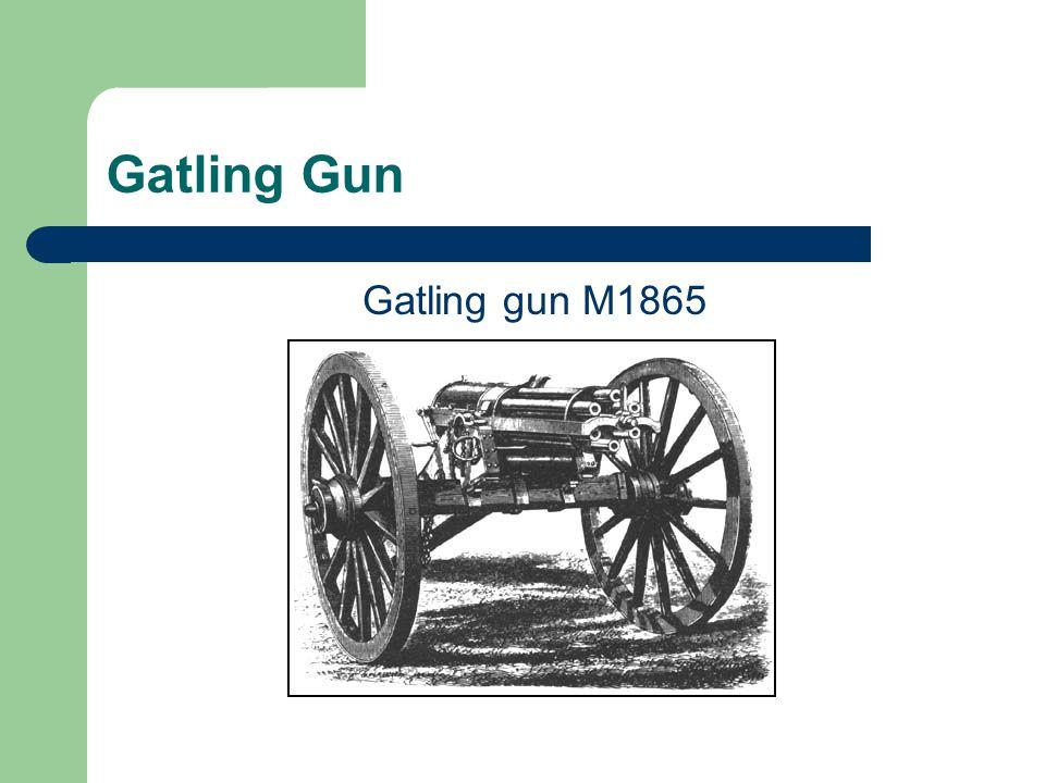 Gatling Gun Gatling gun M1865