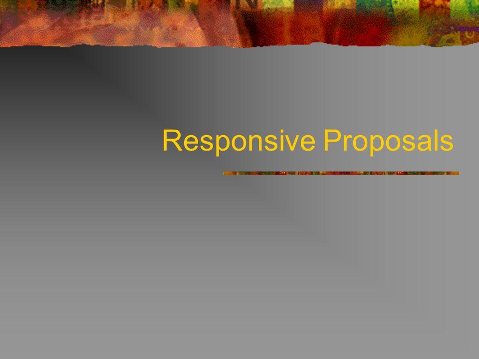 Responsive Proposals