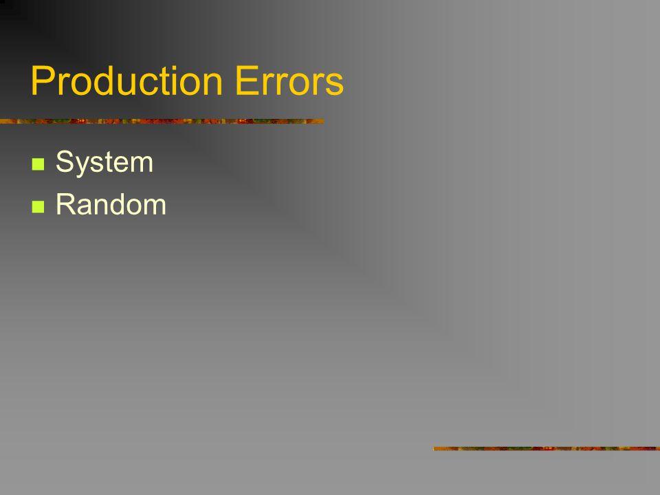 Production Errors System Random