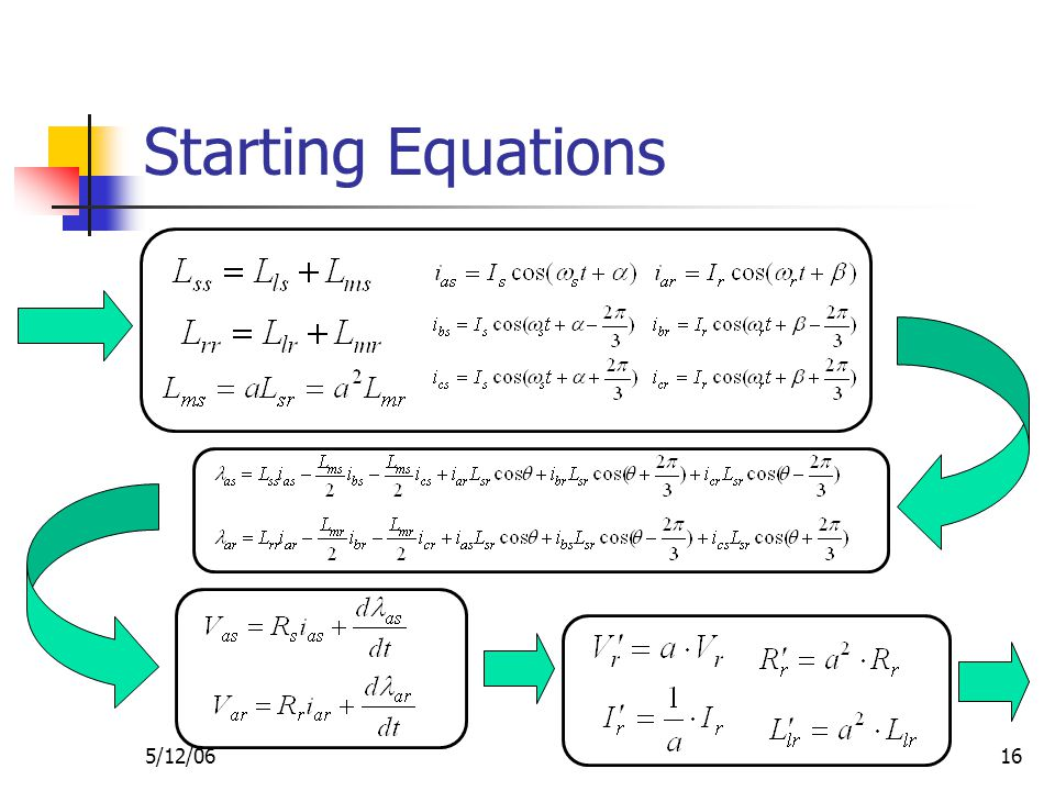 5/12/0616 Starting Equations