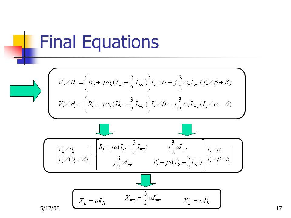 5/12/0617 Final Equations